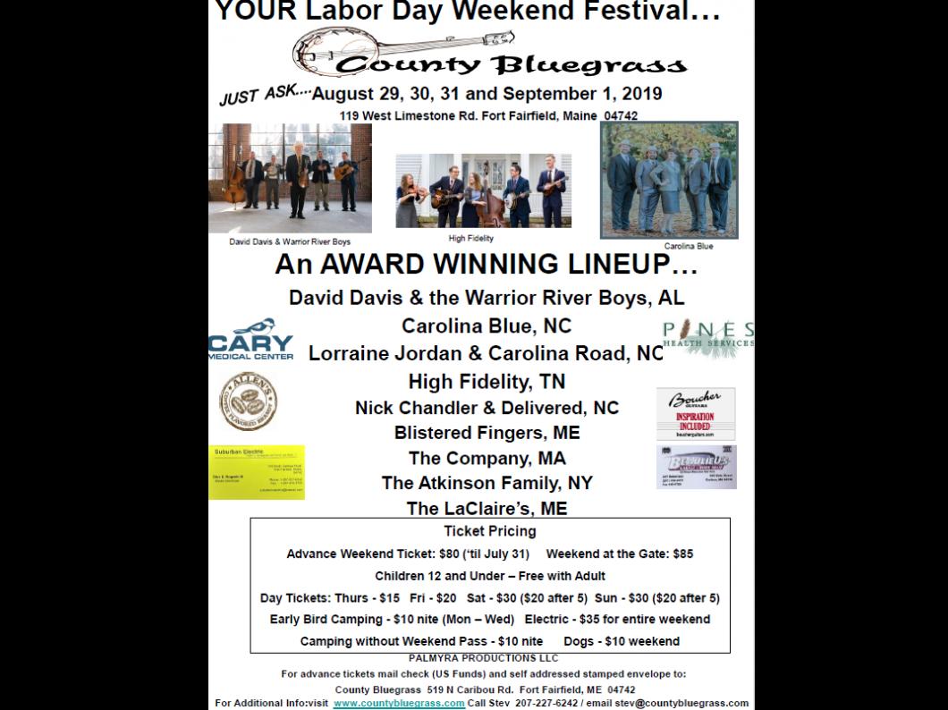 County Bluegrass | Maine | Bluegrass Music Festival