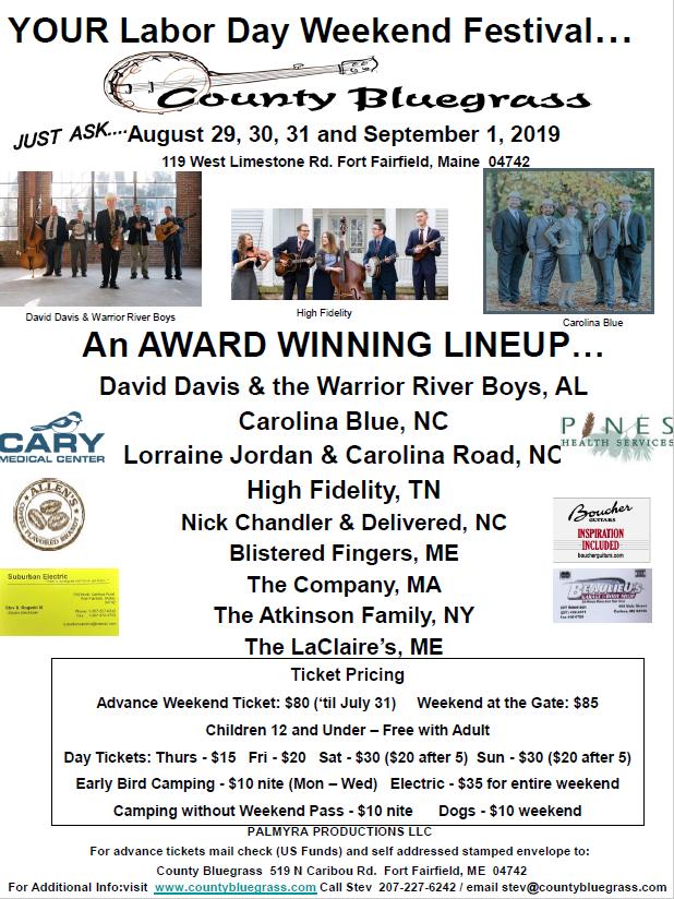 County Bluegrass   Maine   Bluegrass Music Festival